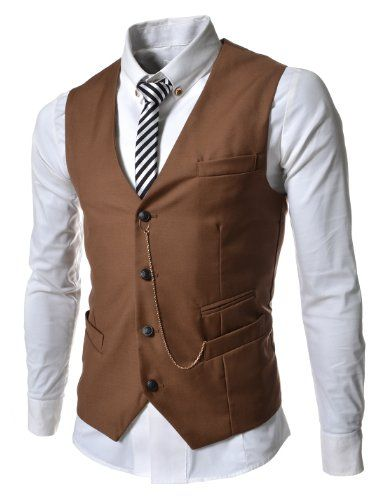 TheLees (GVE) Mens Business Slim Fit Chain Point 4 Button Vest Waist Coat Brown Medium(US Small) TheLees http://www.amazon.com/dp/B00CTPXMY0/ref=cm_sw_r_pi_dp_X27-ub0929GD2