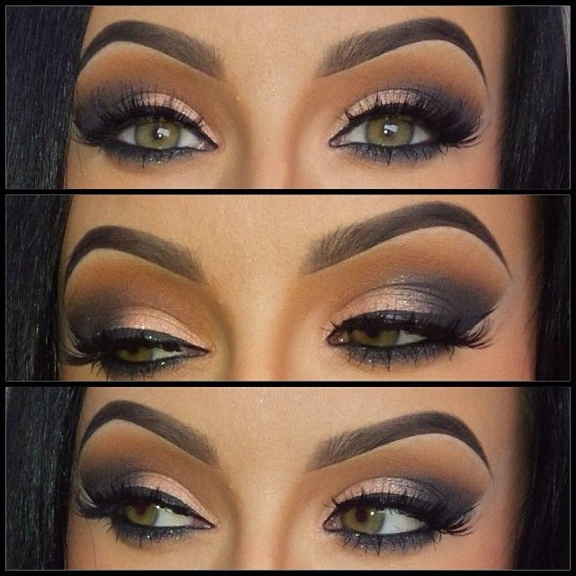 Grey smokey eyes