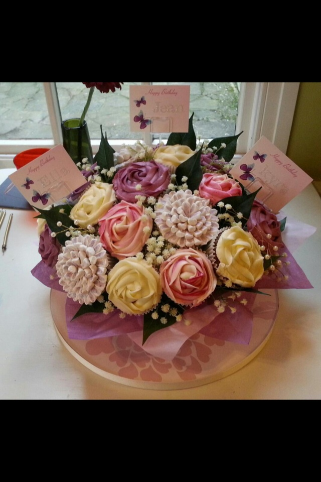 Images about cupcake flower bouquets on pinterest