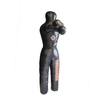 Brottardocka från Throwdown, tillverkad av hållbart syntetiskt läder med en anatomiskt balanserad viktfördelning. Realistisk arm- och benposition tillåter dig att träna hårt utan risk att skada din partner. Tre olika vikter, 30, 40 & 55 kg. Svart färg.