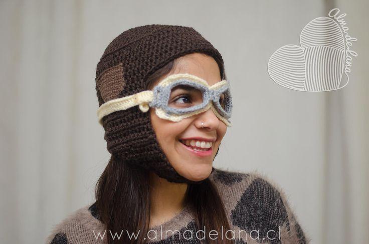 #gorro #aviador creación propia #almadelana #handmade