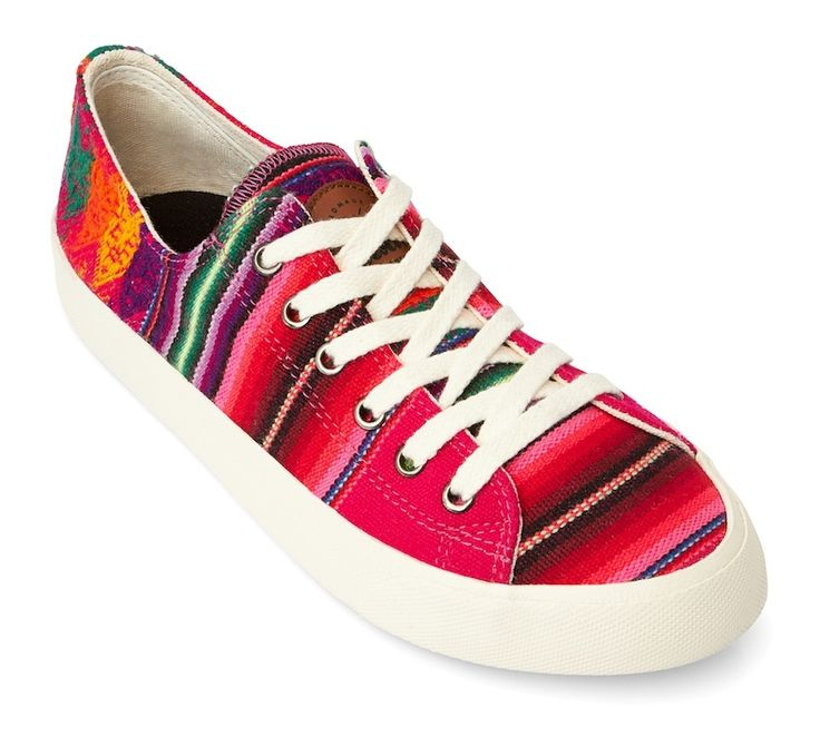 Inkkas Candy Low top Sneakers are premium, hand made, and feature authentic Peruvian textiles. Inkkas are unisex and vegan and help with reforestation by planting a tree for each pair sold.