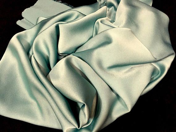 Sage Green Crepe Fabric Soft Material Shiny Fabric