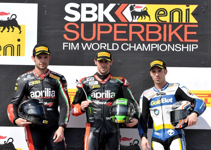 WSBK 2013: Phillip Island, Australia.  #WSBK 2013 #Aprilia #Racing at Philip Island #Australia #apriliaracing2013 #laverty #guintoli #podium #SBK #race #superbike