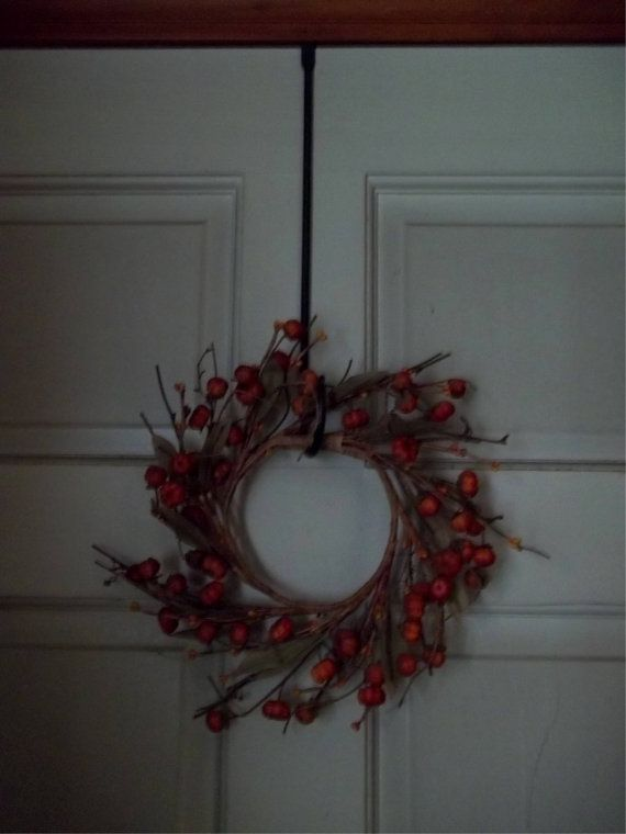 Wreath Hook W Rat Tail Loop Hand Crafted Wrought Iron Holiday Any Occasion  Door
