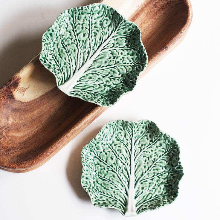 Тарелка капустный лист