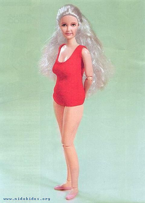 Old age Barbie. (Do I see some cankles? If so, I feel so much better knowing that I'm not alone!)