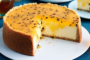 Why wait until summer? Bring tropical fruit flavour to your afternoon with this delicious mango cheesecake.
