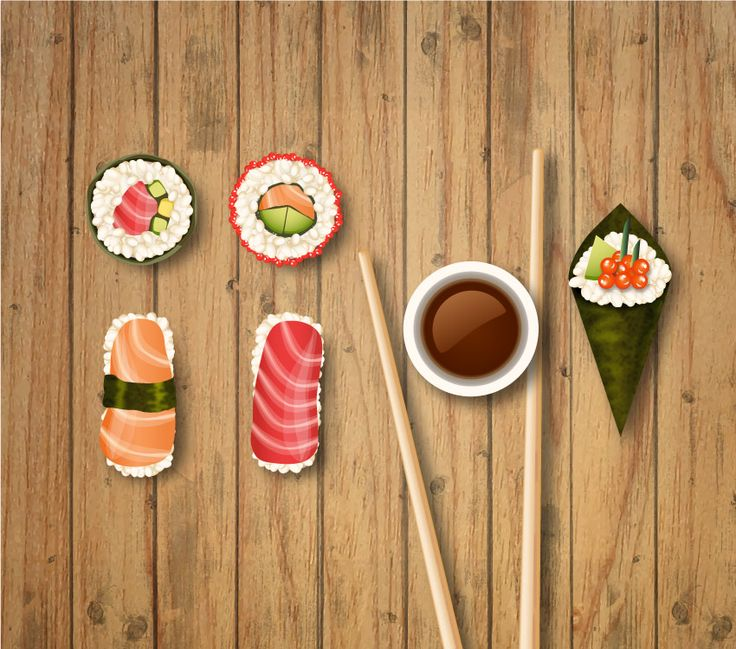How to Create Vector Sushi Icons in Adobe Illustrator  Design Psdtuts
