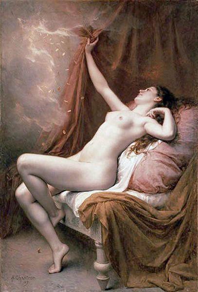 Danae, 1891, Alexandre-Jacques Chantron. (1842 -1918)