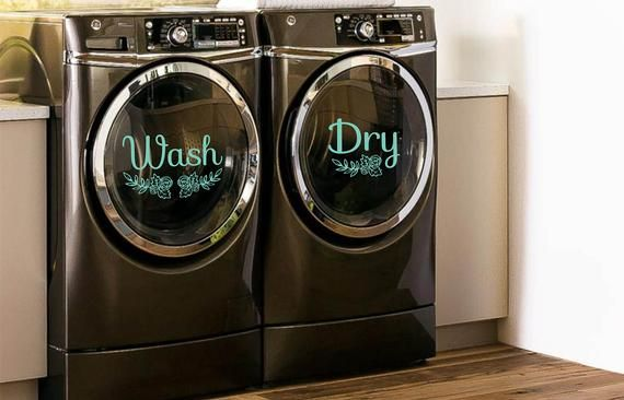 Wash Dry Decals For Washers And Dryers Laundry Room Decor