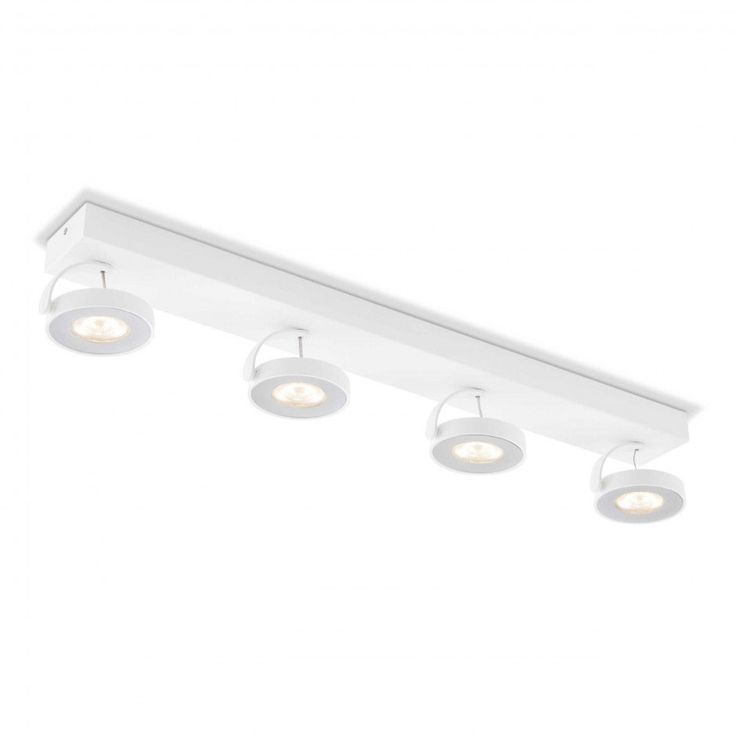 Philips LED-Strahler Clockwork • Weiß • Chrom,Alu,Nickel,Stahl   daheim.de