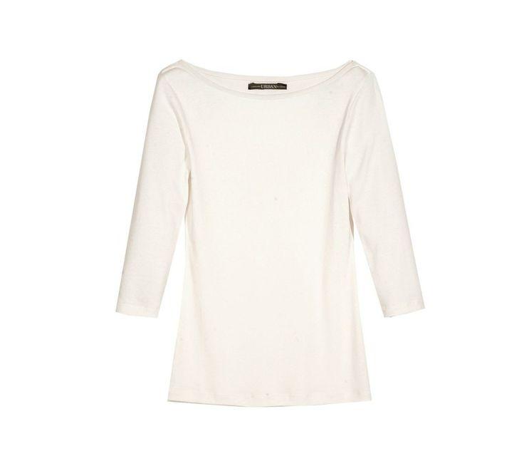 Tričko s lodičkovým výstřihem a 3/4 rukávy | modino.cz #modino_sk #modino_style #style #fashion #newseason #autumn #fall