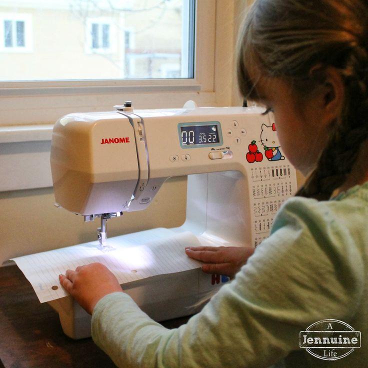 Tiny Sewists: Teaching Kids to Sew :: Lesson 3. {A Jennuine Life}