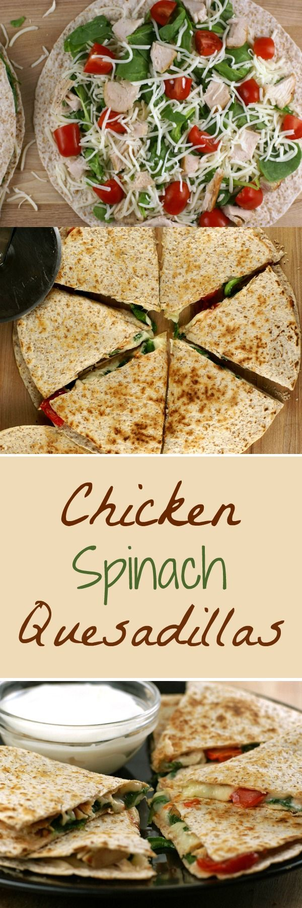 Chicken and Spinach Quesadillas | 5DollarDinners.com