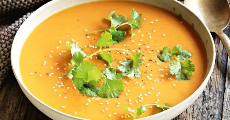 Create a warming weeknight meal with this Thai-inspired sweet potato soup.