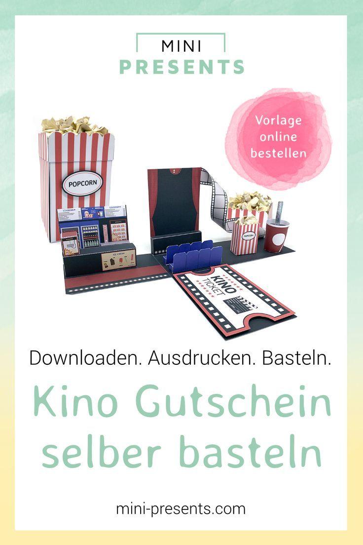 Mini Presents Kinogutschein Explosionsbox Ausdrucken Basteln