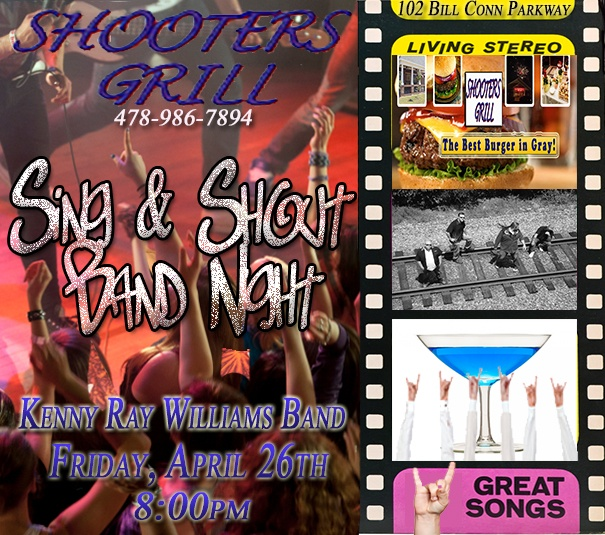 Yeah- You've got Plans Friday Night with Kenny Ray Williams at Shooters Grill!!! Don't forget HH is Happy Hour is from 2pm-6pm- all Beer $2 & Buy One Well Drink & Get one Free to kick off a heck of a night!