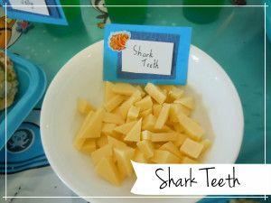 Shark Teeth - sea themed party food
