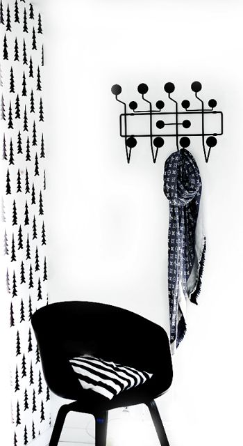 Via Forever Love Blog | Hay About a Chair | Eames Hang it All | Fine Little Day Gran | Black and White
