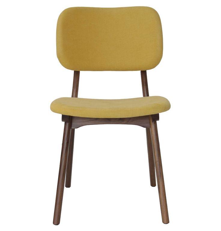 Ivor Dining Chair   Italian Fabric   Matt Blatt