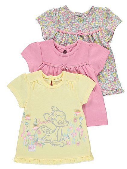 Disney Bambi 3 Pack Tops, read reviews and buy online at George at ASDA. Shop from our latest range in Baby. Add some Disney magic into their wardrobe with t...