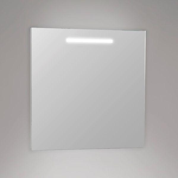 Eco led-valopeili 600x600, saatavana myös koossa 800x600. IP44-luokitus, jolloin peili on turvallista asentaa myös kosteaan tilaan.  Peilin antama valonväri on valkoinen 4200K. #Eco #ledvalopeili #ledpeili #peili #kylpyhuone #gripshop