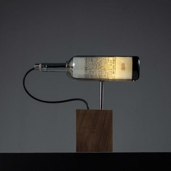 Wine Bottle Lamp by John Meng: Jie