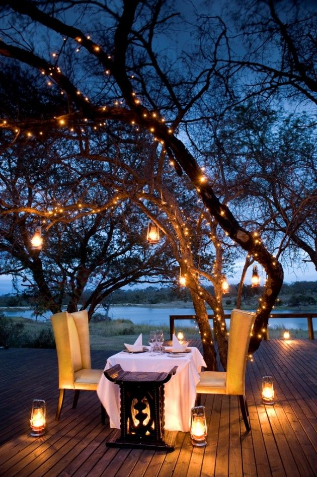 Photo series: Dinner Under the Stars, - Des idées de déco pour un dîner à la belle étoile | BricoBistro