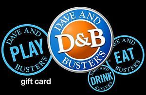$50 Dave & Buster's Gift Card for $40!