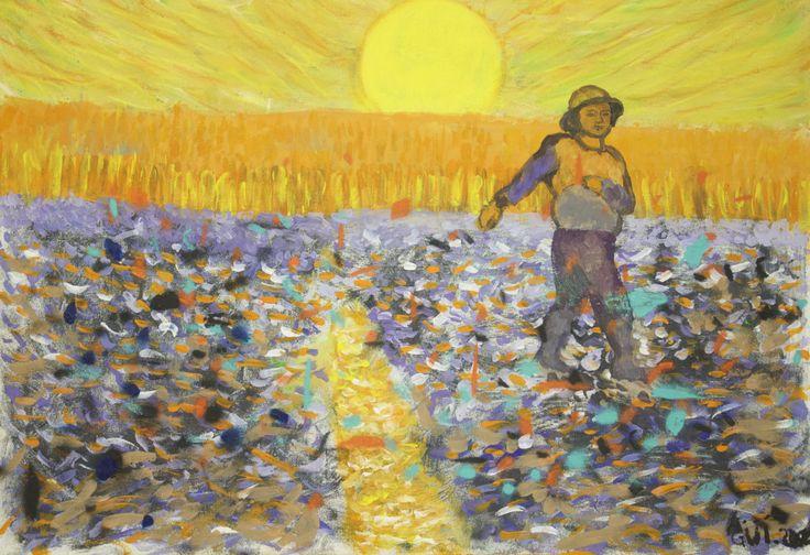 Aguasantas 'Homenaje a Van Gogh' #jovenesartistasjerezdeloscaballeros #arte #jerezdeloscaballeros