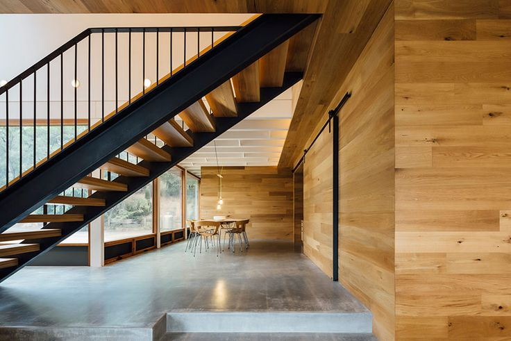 maloney architects constructs the invermay house of concrete, wood, and glass