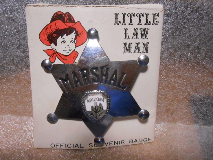 Vintage Little Law Man Arizona Marshall Metal Police Badge on Card FOR SALE • $19.99 • See Photos! Money Back Guarantee. Vintage Little Law Man Arizona Marshall Metal Police Badge on Card Click to Enlarge Click to Enlarge Click to Enlarge Up for sale is a Vintage Little Law Man Arizona 371491809048