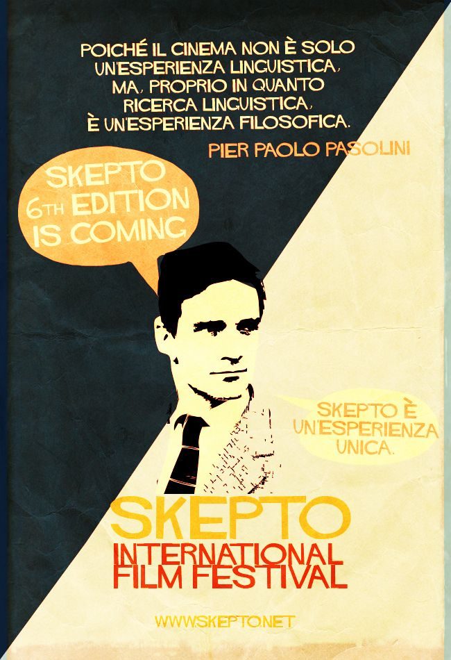 Skepto Retro Poster - Director's Quotes nº4 Pier Paolo Pasolini