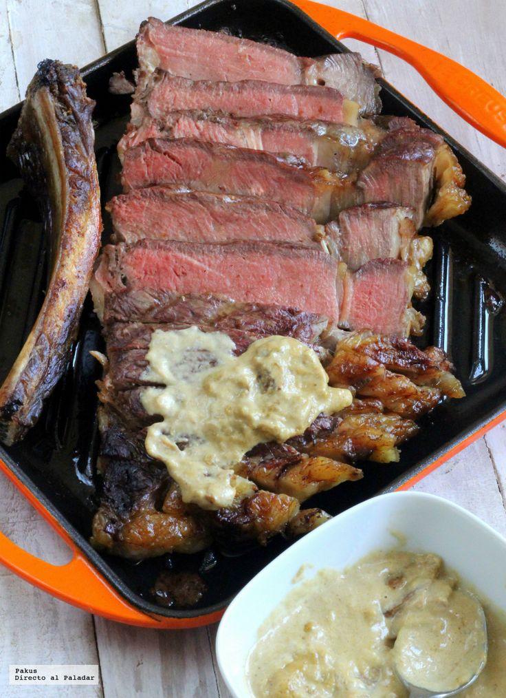Hoy vamos a preparar un chuletón al horno en cocción lenta con salsa de boletus, una receta para triunfar con todos los amantes de la buena carne...