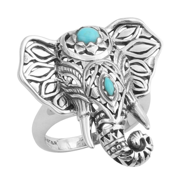 Midsummer Star Third Eye Decorated Elephant Ring | GypsyLovinLight