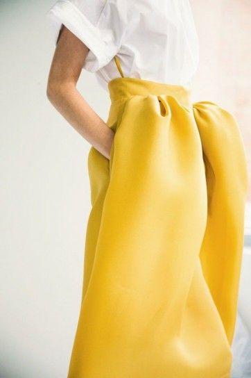 Gonna giallo canarino di Delpozo