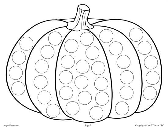 FREE Thanksgiving Do-A-Dot Printables and Dot Art Painting ...