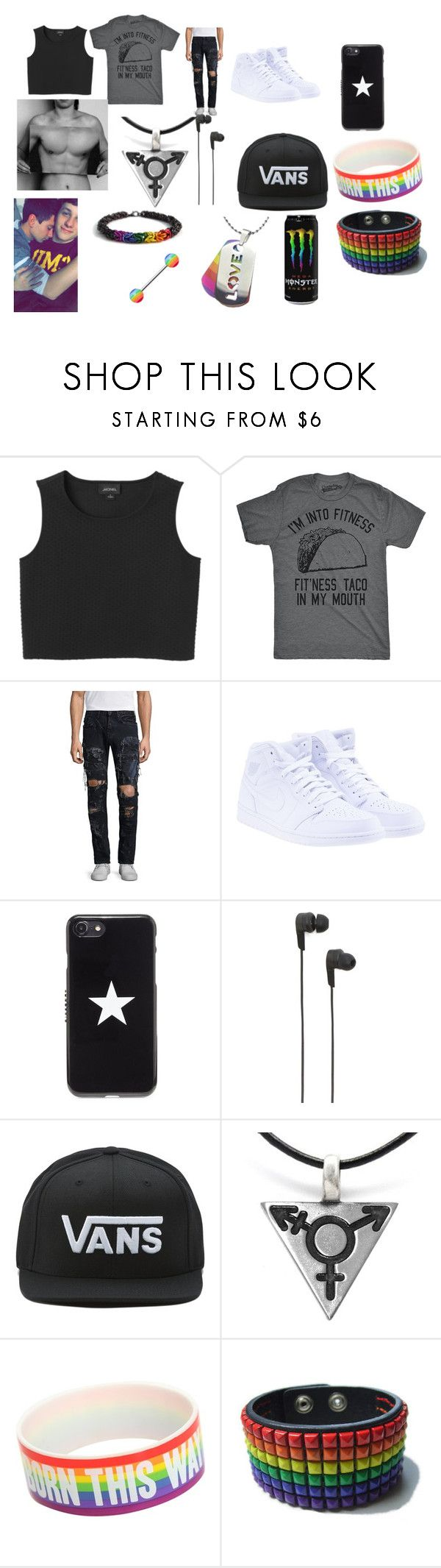 """transgender"" by hansen-justin ❤ liked on Polyvore featuring Monki, PRPS, NIKE, Givenchy, B&O Play, Vans, Hot Topic, men's fashion, menswear and lbgt"