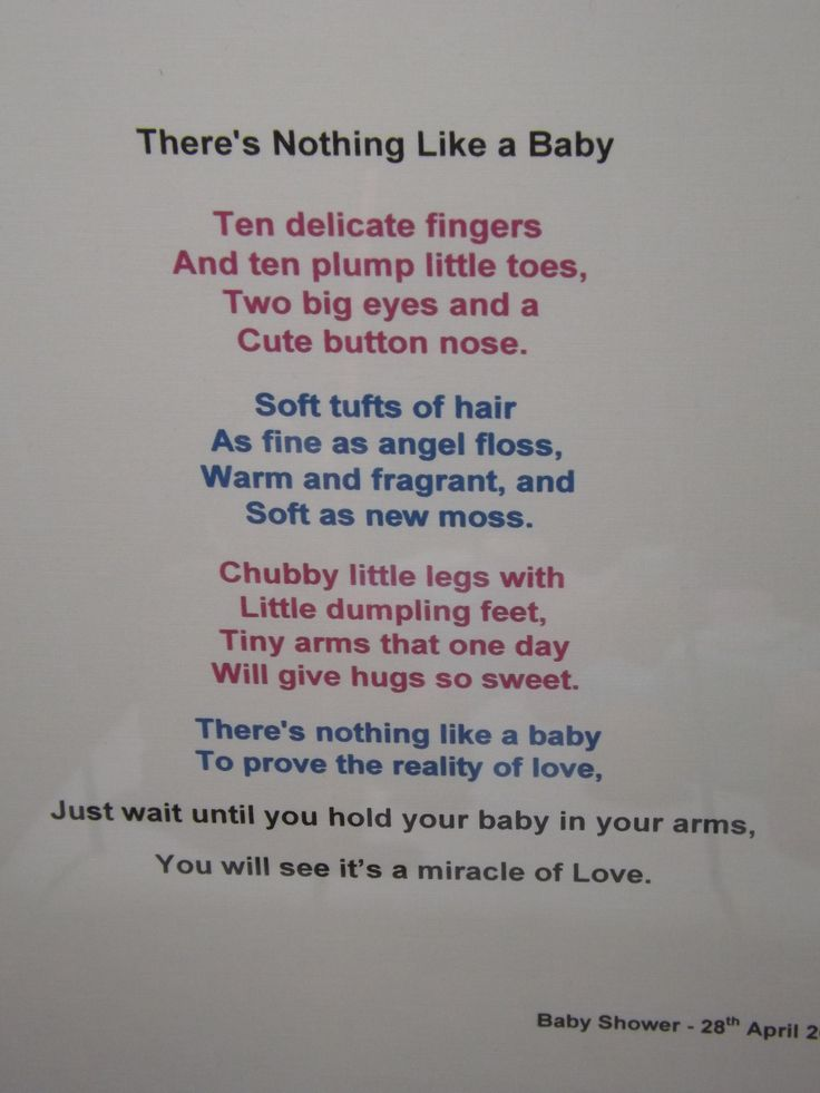 unborn baby poems for baby shower - photo #22