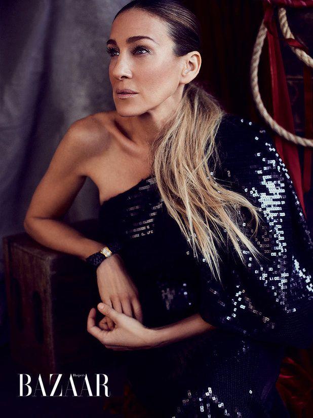 Sarah Jessica Parker in the April issue of Harper's Bazaar