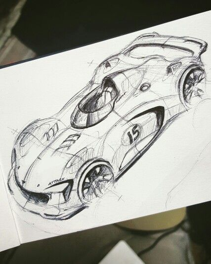 Because race car! #sketch #sketchdaily #trackday #cardesign