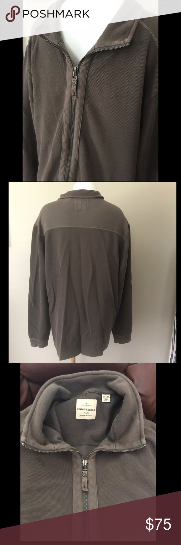 Tommy Bahama Brown Zip Up Jacket Nice warm soft brown zip up collared jacket top. Had 2 pockets. 100% cotton. Perfect condition. Tommy Bahama Jackets & Coats Lightweight & Shirt Jackets