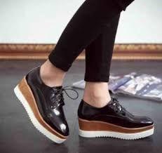 Resultado de imagen para zapatos plataforma de madera