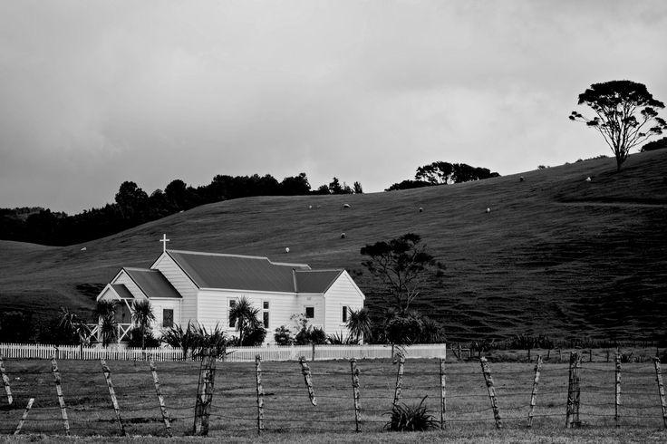 Rural church near Maraetai in Auckland, New Zealand