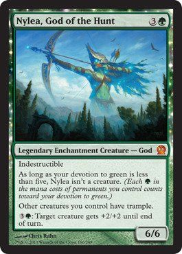 Magic: the Gathering - Nylea, God of the Hunt (166/249) - Theros.