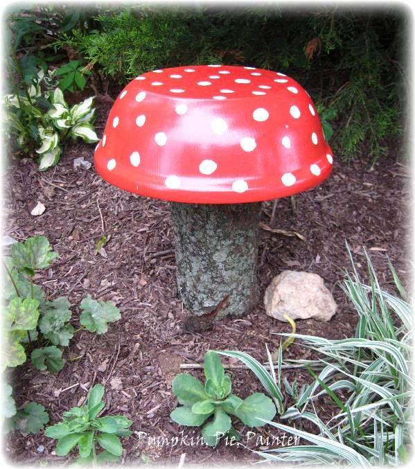 Recycled Garden Art Ideas 215 best recycled garden art images on pinterest gardening easy garden toadstool workwithnaturefo