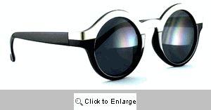 New York Metal Bridge Round Sunglasses - 594R Black
