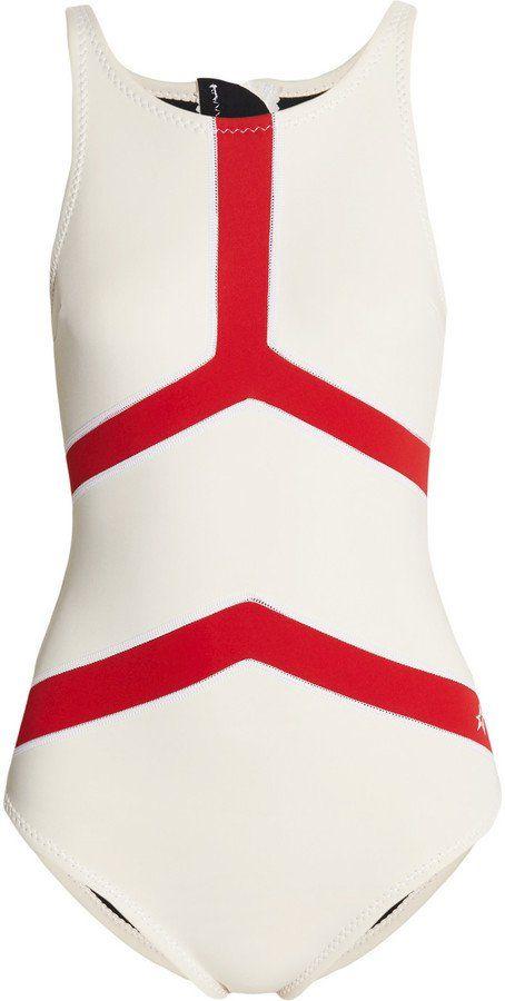 Pin for Later: Weiße Bademode betont euren von der Sonne geküssten Teint am besten  Nordic weißer Badeanzug aus Neopren (230 €)
