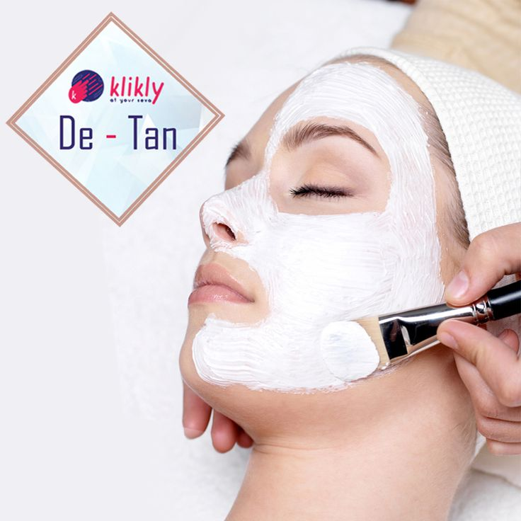 Get de-tan services at home by our trusted beauticians. Look like your true self. Book now #Detan #PamperYourself @kliklynow